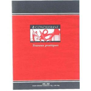 Conquerant 100103720 - Cahier Sept T.P. piqué 17 x 22 cm 96 pages 70/90g/m², Grands carreaux/uni