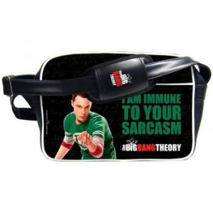 Sac bandoulière 'The Big Bang Theory' - Sheldon Immune Sarcasm Noir