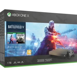 Microsoft Xbox One X édition Spéciale Gold Rush (1 To) + Battlefield V