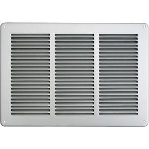 First Plast Grille ventilation 340x240mm Inox - Avec moustiquaire -
