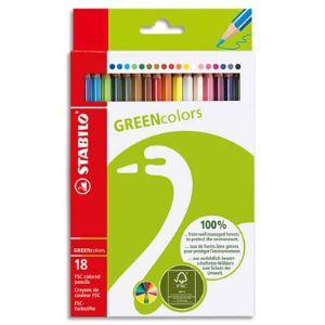 Stabilo 18 Crayons de couleur Greencolors assortis