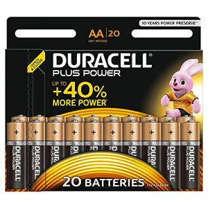 Duracell 20 piles alcalines AA LR06 Plus Power