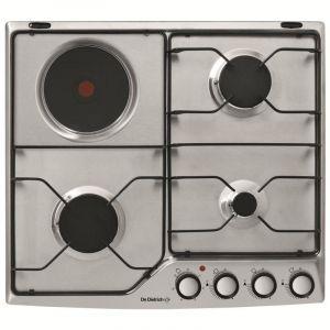 De Dietrich DPE7610XM - Table de cuisson mixte (gaz et électrique) 4 foyers