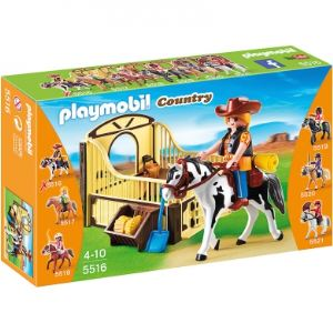 Playmobil 5516 Country - Cheval Gypsy Cob et son paddock