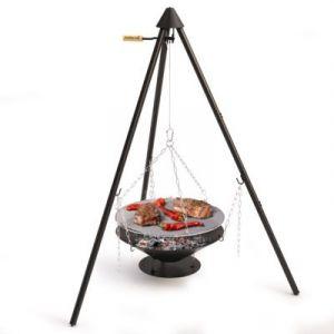 Barbecook Brasero avec Trépied et Grille Junko - acier - Ø60 cm