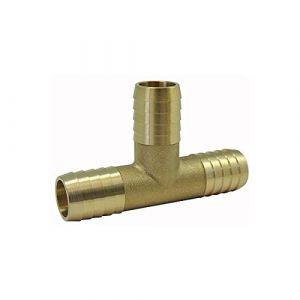 Ezfitt Raccords cannelés : Té de jonction en laiton - Ø tuyau 30mm
