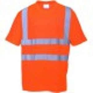 Portwest Tee shirt hivi rétroréfléchissant micro-bille orange fluo 100% polyester nid d'abeille 150 g/m2 taille s :