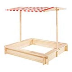 Pinolino Bac à sable Leonie en bois avec toit
