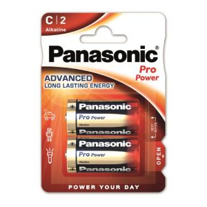 Panasonic 2 piles C LR14 1.5V Pro Power