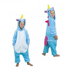 Kigurumi Licorne Bleue Enfant - 5/6 ans