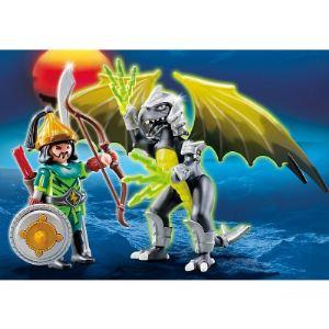 Playmobil 5465 Dragons - Dragon tempête avec soldat mongol