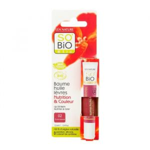 So'Bio Étic 02 Prune Soyeuse - Baume huile lèvres Nutrition & Couleur