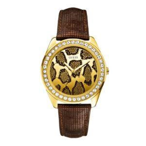 Guess W0056L2 - Montre pour femme avec bracelet en cuir
