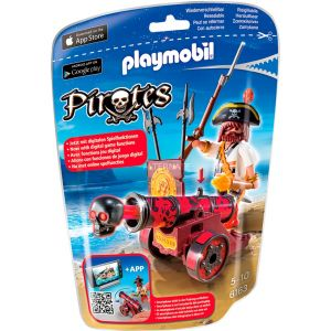 Playmobil 6163 Pirates - Pirate avec canon rouge