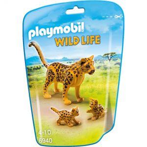 Playmobil 6940 Wild Life - Léopard avec bébés