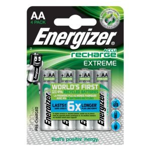 Energizer 4 piles rechargeables AA LR06 2300 mAh Extreme