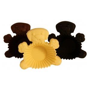 6 moules à muffins ronds en silicone motif chat