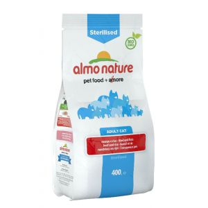 Image de Almo Nature Chat Sterilised Boeuf et riz 400 grs