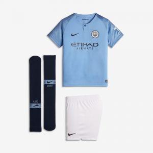 Nike Tenue de football 2018/19 Manchester City FC Stadium Home pour Jeune enfant - Bleu - Taille XS - Unisex