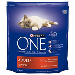 Purina One Chat Adult - Croquette au boeuf 1,5 kg