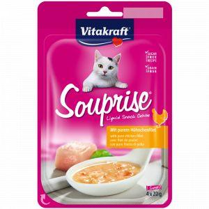 Vitakraft Souprise Liquid Snack Filet De Poulet Pour Chat - 4x20g
