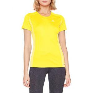 2a611d358c36f Image de Salomon Femme T-Shirt de Sport à Manches Courtes, Agile Heather Tee