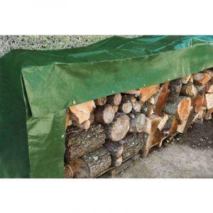 Werkapro Bâche à bois 240 g/m2 verte 1,5 x 6 m