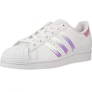 Adidas Superstar J, Basket Mixte Enfant, FTWR White FTWR White FTWR White, 36 EU