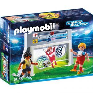 Playmobil 6858 Sports et Action - Cage de tir au but avec footballeurs