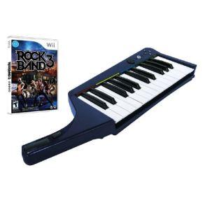 Rock Band 3 + Clavier pro sans fil officiel [Wii]