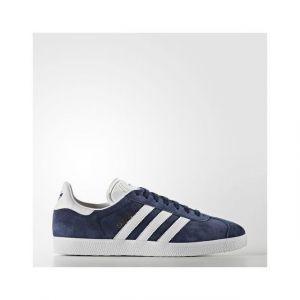 Adidas Gazelle - Sneakers Basses Mixte Adulte - Bleu (Collegiate Navy/White/Gold Met) - 45 1/3 EU