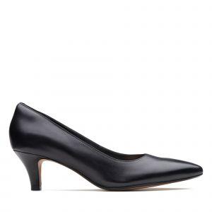 Clarks Linvale Jerica cuir Femme-39,5-Noir