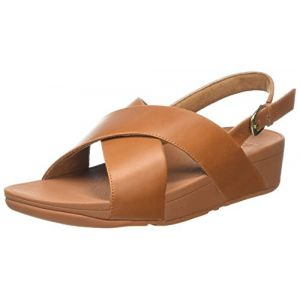 Ouvert Cross Sandales Femme Bout Strap Fitflop Leather Lulu Back 14nq00S5