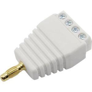 Conrad Components Fiche banane mâle avec connexions à visser Ø 3 mm 93013c1123a blanc 1 pc(s)