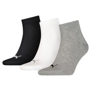 Puma 271080001 - Quarter Plain 3P - Chaussettes de Sport (lot de 3) - Mixte Adulte - Multicolore (Grey/White/Black) - 43-46 EU