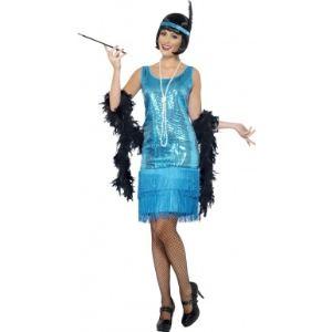 Smiffy's Déguisement années 20 charleston bleu femme (taille S, M ou L)