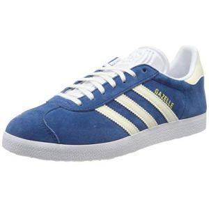 Adidas Gazelle W, Chaussures de Gymnastique Femme, Bleu Legend Marine/Ecru Tint S18/Ftwr White, 36.5 EU