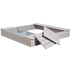 Roba Bac à sable Deluxe, bacs de jeu bois gris