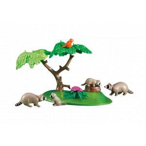 Playmobil 6317 - Famille de ratons laveurs avec arbre