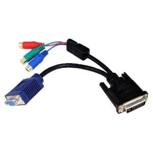 ConnectLand DVI-I-VGA-F-3RCA - Adaptateur DVI-D Male vers VGA Femelle + 3 RCA