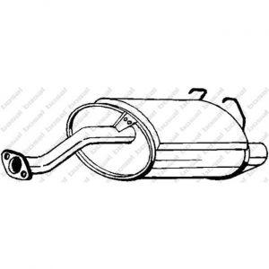 Bosal Silencieux arrière 163-725