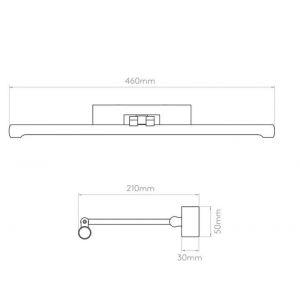 Astro Applique élégante pour tableau Goya LED 460 - Laiton