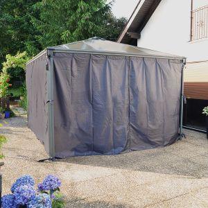 Chalet et Jardin Rideaux tonnelle de 3x3 et 3,6x3,6 Couv'Terrasse (lot de 4 rideaux)