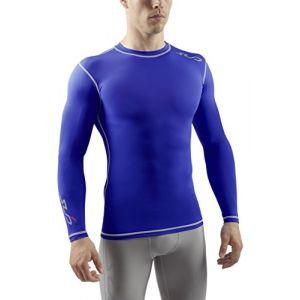 Sub Sports DUAL T-shirt de Compression Manches Longues Homme - Bleu royal - XL
