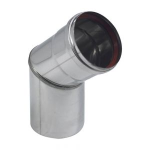 Ten Coude BR45° inox 316 4/10 O80 + joint a levres