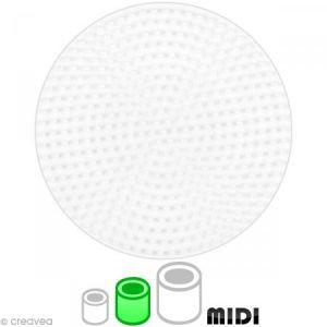 Hama Plaque pour perles à repasser Midi : Plaque moyenne ronde