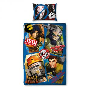 Character World Star Wars Rebels - Housse de couette et oreiller (135 x 200 cm)