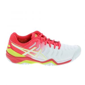Asics Baskets Gel Resolution 7 - White / Laser Pink - Taille EU 39