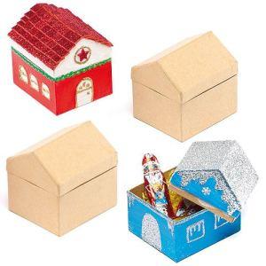 Baker Ross 4 boîtes Maisons en carton à décorer et peindre