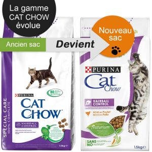 Purina Cat Chow Special Care Hairball Control - Sac 15 kg